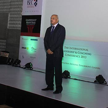 IAC President & ISEC Founder, Krishna Kumar delivering the Keynote 'Leadership Mantras for the Modern Age' at the International Leadership & Coaching Conference 2013