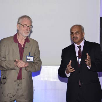 Widely regarded as the World's No.1 Business Coach, Sir John Whitmore (left) with the IAC President & ISEC Founder, Krishna Kumar